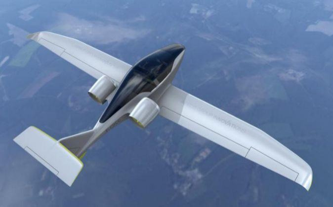Avión eléctrico E-Fan de Airbus.