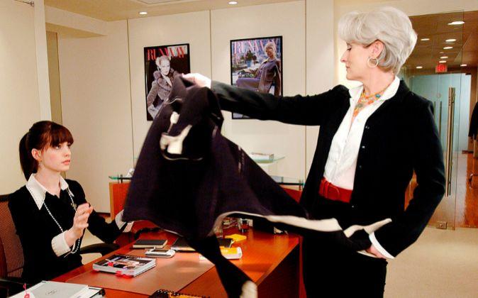 En la película 'El diablo viste de Prada' (una imagen del...
