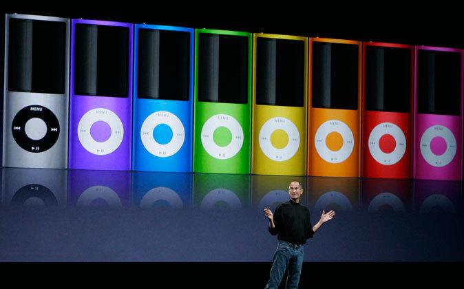 Steve Jobs, durante la presentación de una versión del iPod Nano.