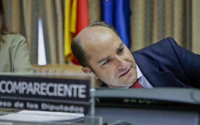 El secretario de Estado de Empleo, Juan Pablo Riesgo, hoy durante su...