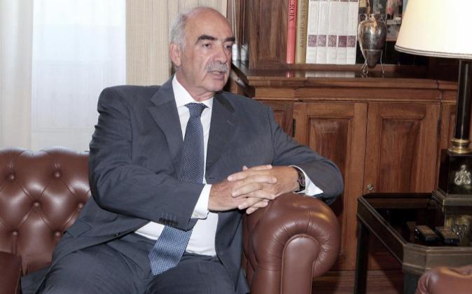 El presidente del partido conservador, Vangelis Meimarakis, tiene un...