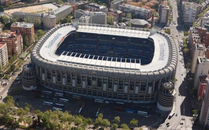 Imagen aérea del coso madrileño situado en Avda. de Concha Espina 1,...