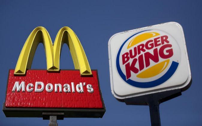Logos de McDonald's y Burger King,