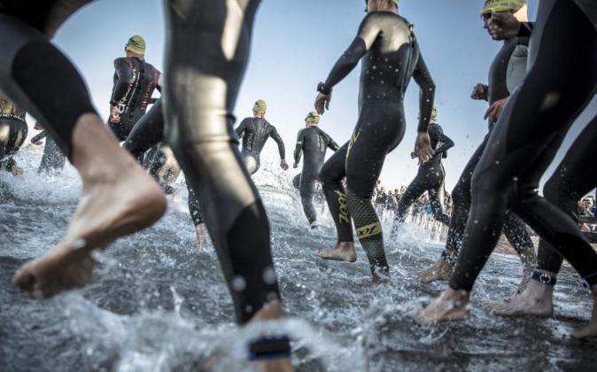 Triatletas durante la prueba Ironman celebrada el 23 de agosto en...