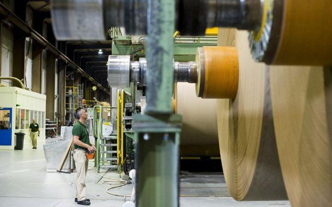 Fábrica de papel.