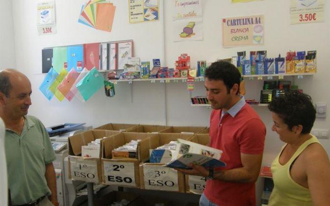 Imagen de uno de los bancos de libros