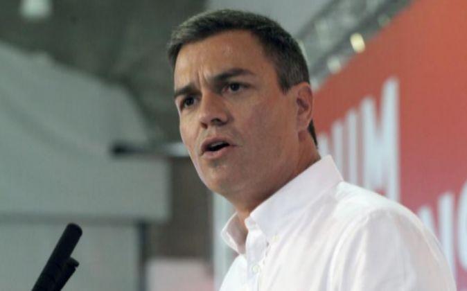 El secretario general del PSOE, Pedro Sánchez, ayer en un acto.