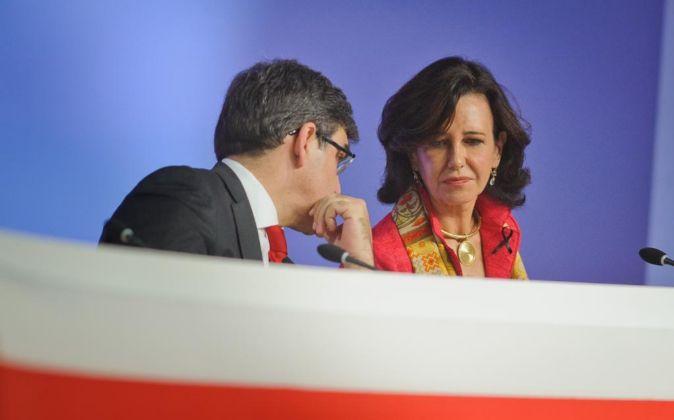 ANA PATRICIA BOTIN, PRESIDENTA DEL BANCO, EN LA JUNTA DE ACCIONISTAS.