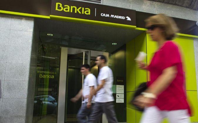 SURUCSAL DE BANKIA EN MADRID.