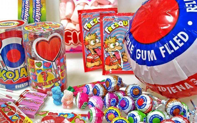 Caramelos y piruletas de la marca Fiesta.