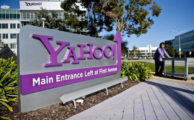 Entrada principal a la sede de Yahoo!