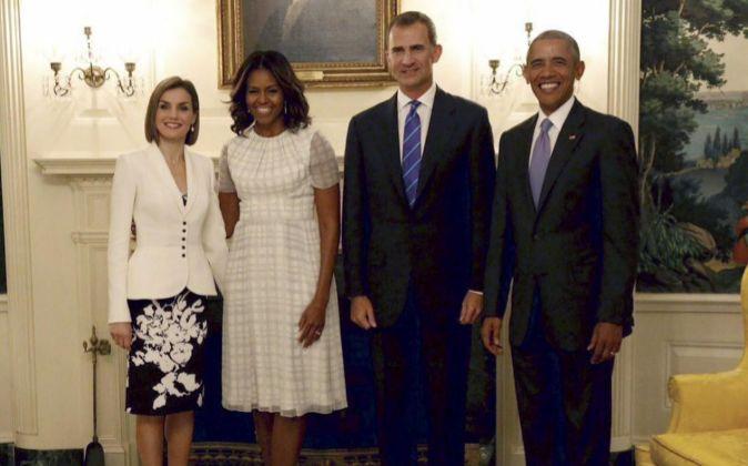 Los reyes Felipe y Letizia junto al Barack y Michelle Obama.