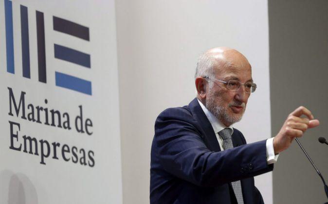 Juan Roig, durante su intervención en la inauguración de Marina de...