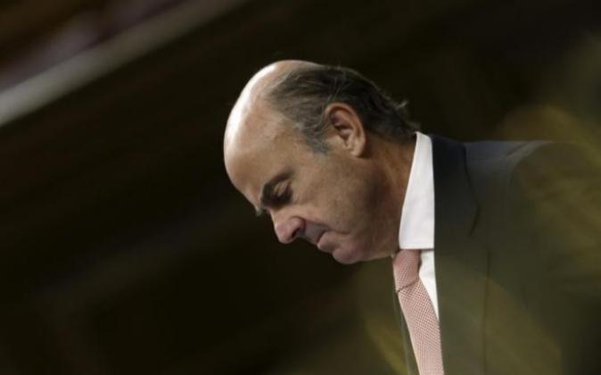 El ministro de Economía y Competitividad, Luis de Guindos, el pasado...