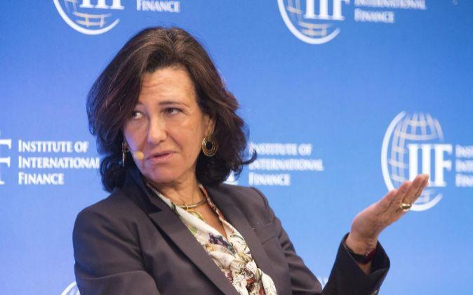 La presidenta de Santander, Ana Botín