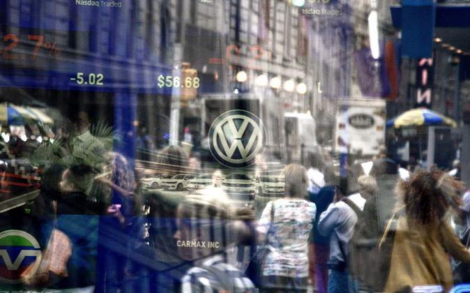 Vista del logotipo de Volkswagen.