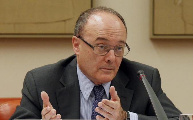 El gobernador del Banco de España, Luis María Linde, en una imagen...