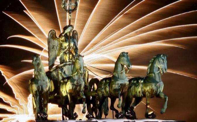 Cuádriga de la Puerta de Bradenburgo, en Berlín.