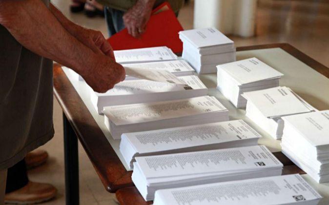 Votaciones en el barrio de Gracia (Barcelona).