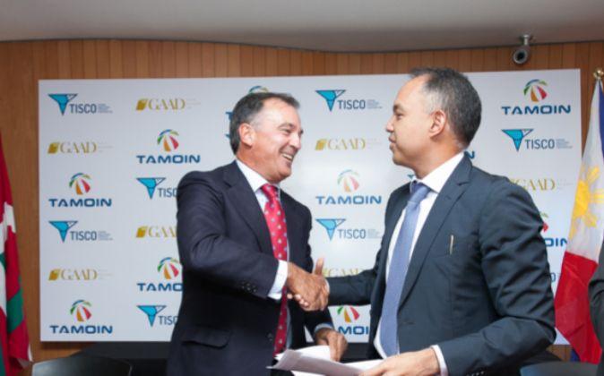 Antonio Barrenechea, presidente de Tamoin, y Dennis Zamora (dcha.),...