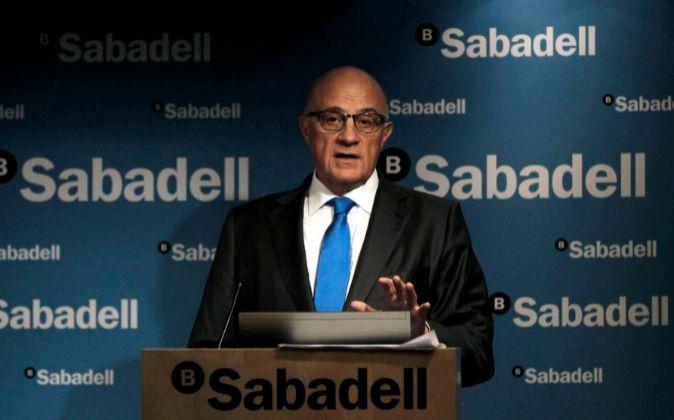 Josep Oliu, presidente de Sabadell.