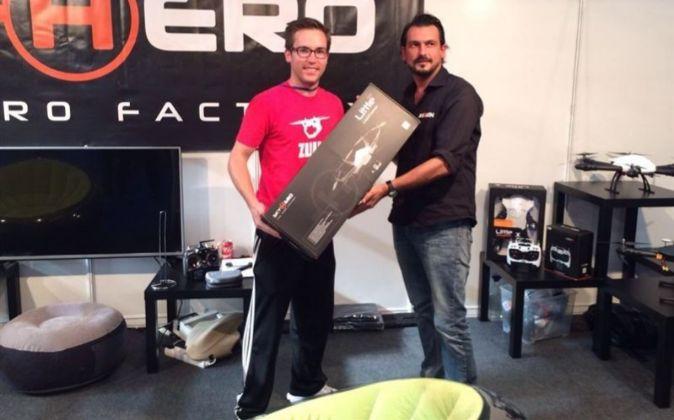 Daniel Pachón, ganador de la competición de drones celebrada en el...