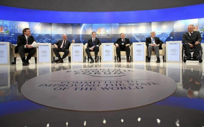 Miembros del Foro de Davos en una imagen de archivo.