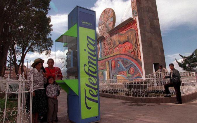 Cabina de Telefónica en Perú.