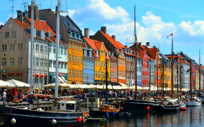 Vista de Copenhague, la capital de Dinamarca.