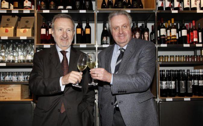Pedro Bonet, director de comunicación de Freixenet, y Pedro Ferrer,...