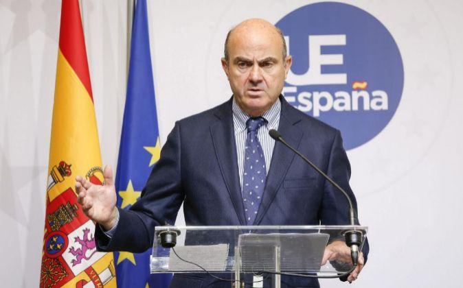 El ministro de Economía español, Luis de Guindos.