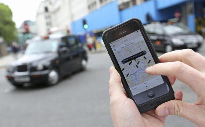 Aplicación de Uber para iPhone.