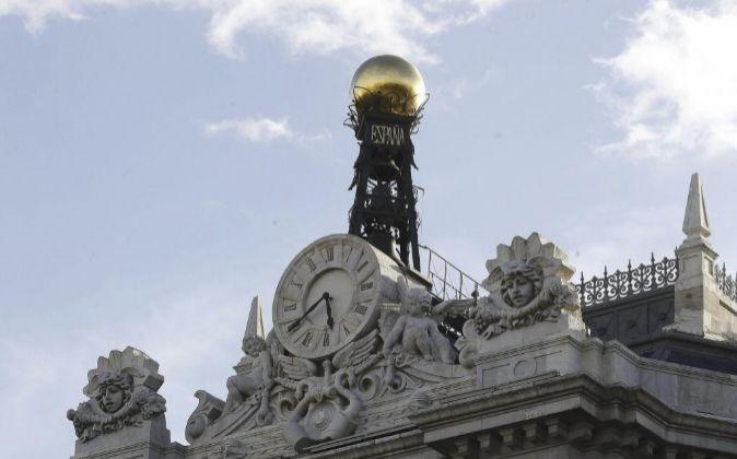 Fachada de la sede del Banco de España, en la Plaza de Cibeles en...