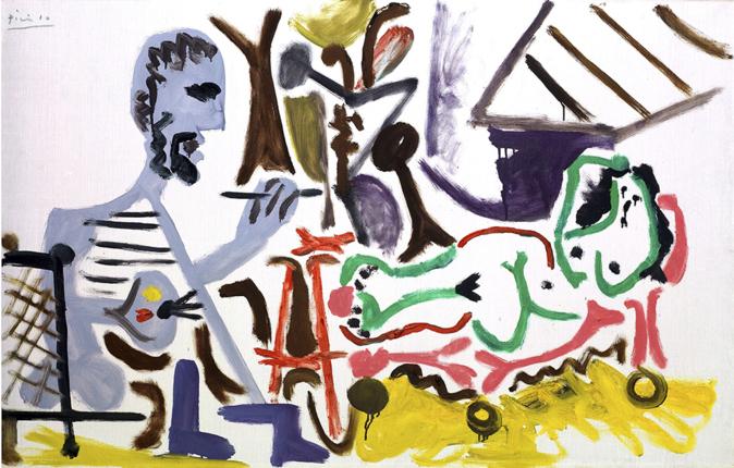Le Peintre et son modèle I', de 1963, es uno de los óleos más...