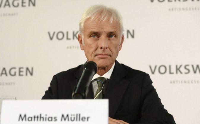 El presidente del grupo Volkswagen, Matthias Müller.