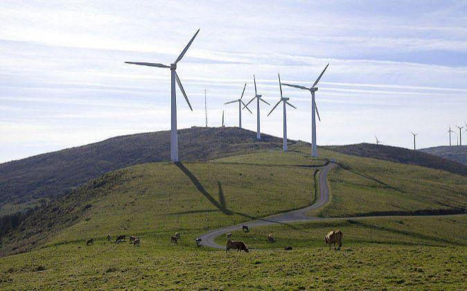 Parque eólico de Norvento, en la provincia de Lugo