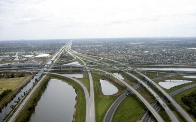 Autopista 1595 en Florida, construida por ACS.