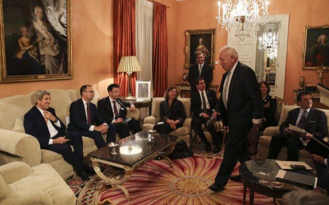El ministro de Asuntos Exteriores, José Manuel García-Margallo,de...