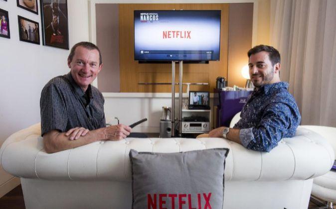 Neil Hunt, director de producto y Juan Mayne, director de contenidos...