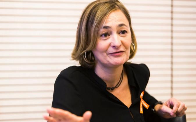 Mari Luz Rodríguez, secretaria de Empleo del PSOE, durante su...