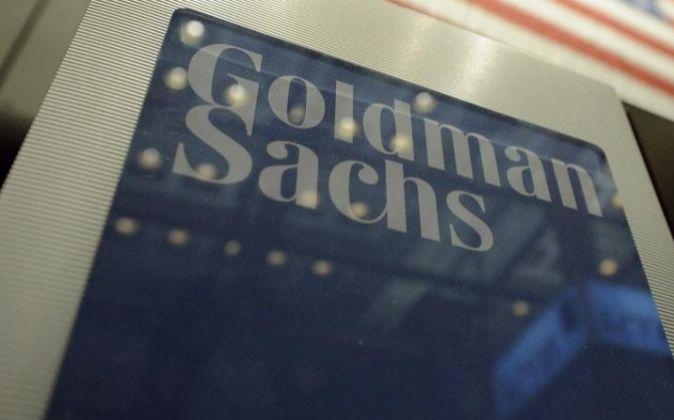Panel indicador del banco estadounidense Goldman Sachs