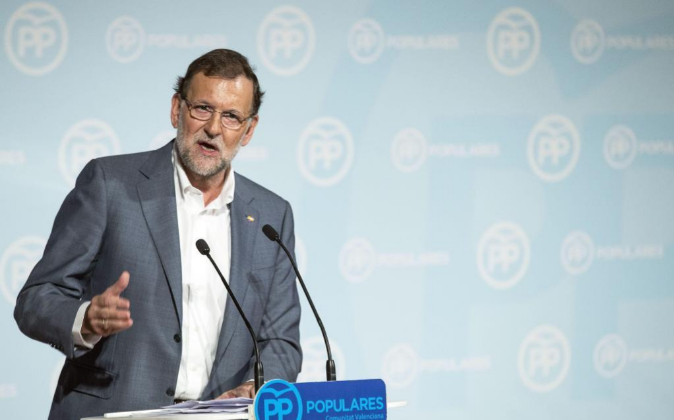 El presidente del Gobierno, Mariano Rajoy, en un acto de su partido.