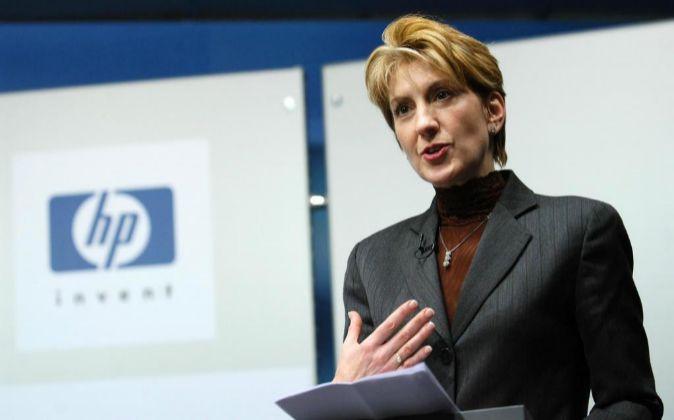 Carly Fiorina durante su etapa al cargo de HP.