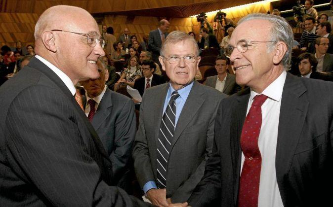 Los presidentes de Sabadell y CaixaBank, Josep Oliu y Isidro Fainé