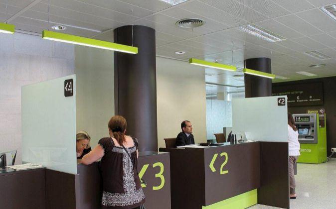 Una oficina de Bankia