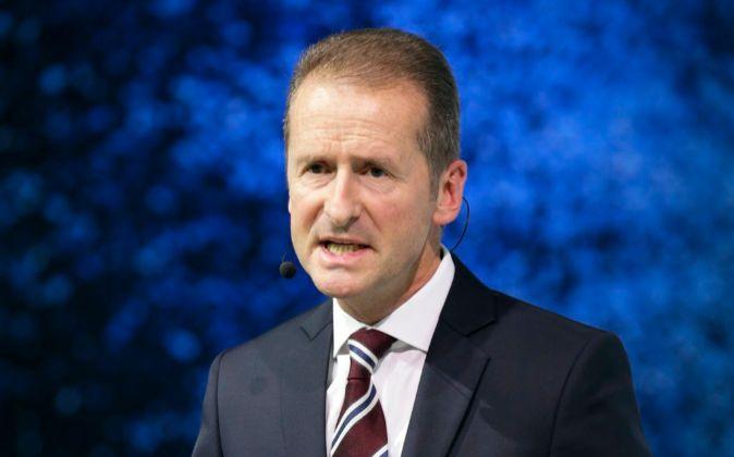 Herbert Diess, director general de la marca Volkswagen