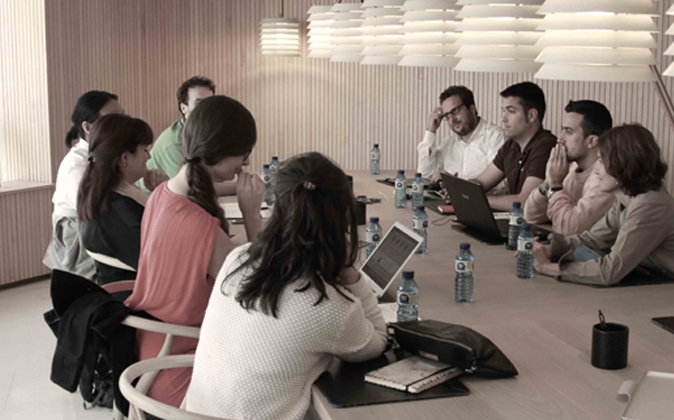 Emprendedores en el aula BStartup 10 del Sabadell