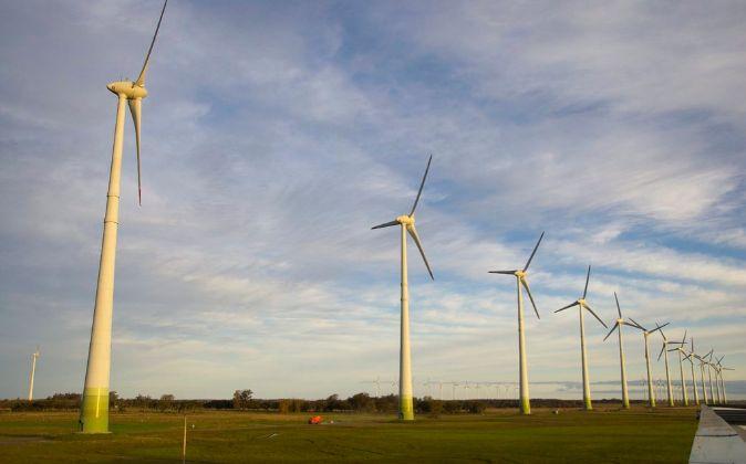 Aerogeneradores de Elecnor en el parque eólico de Osorio (Brasil)