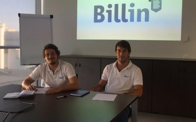 Marcos de la Cueva y Diego Goya, fundadores de Billin.