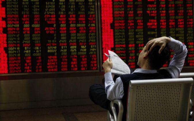 Inversor en la Bolsa de Shanghái.